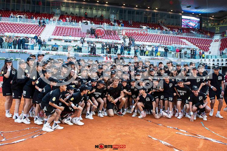 German Alexander Zverev during Finals of Mutua Madrid Open at Caja Magica in Madrid, Spain. May 13, 2018. (ALTERPHOTOS/Borja B.Hojas)