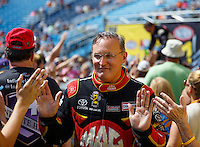 Jul 10, 2016; Joliet, IL, USA; NHRA top fuel driver Doug Kalitta during the Route 66 Nationals at Route 66 Raceway. Mandatory Credit: Mark J. Rebilas-USA TODAY Sports