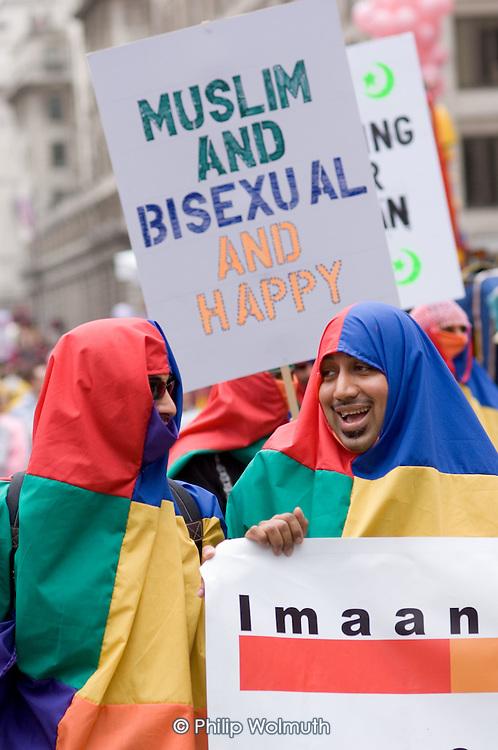 Muslims join the 2005 London Gay Pride parade.
