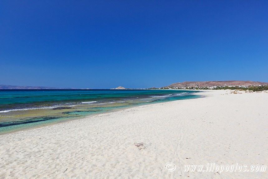 Glyfada beach in Naxos island, Greece