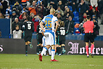 Leganes Nordin Amrabat dejected vs Real Madrid during Copa del Rey  match. A quarter of final go. 20180118.