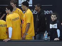 Basketball  1. Bundesliga  2016/2017  Hauptrunde  16. Spieltag  27.12.2016 Walter Tigers Tuebingen - MHP Riesen Ludwigsburg Jared Jordan (re, Tigers)  krank auf der Ersatzbank.