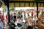 Hawaii: Molokai, Friday night kupuna night entertainment by locals at the Hotel Molokai, with singers, ukulele strummers, hula dancers, and good food and drink. .Photo himolo177-71792..Photo copyright Lee Foster, www.fostertravel.com, lee@fostertravel.com, 510-549-2202