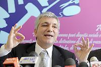 Roma, 29 Marzo 2012.Sinistra, Ecologia e Libertà..Il presidente Nichi Vendola in conferenza stampa