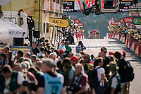 a late group rolling in at the finish<br /> <br /> Stage 10: Annecy > Le Grand-Bornand (159km)<br /> <br /> 105th Tour de France 2018<br /> ©kramon