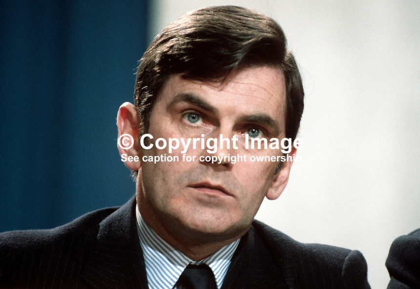 Ray McSharry, Fianna Fail, TD, Minister, Rep of Ireland, 198002000040..Copyright Image from Victor Patterson, 54 Dorchester Park, Belfast, UK, BT9 6RJ..Tel: +44 28 9066 1296.Mob: +44 7802 353836.Voicemail +44 20 8816 7153.Skype: victorpattersonbelfast.Email: victorpatterson@mac.com.Email: victorpatterson@ireland.com (back-up)..IMPORTANT: If you wish to use this image or any other of my images please go to www.victorpatterson.com and click on the Terms & Conditions. Then contact me by email or phone with the reference number(s) of the image(s) concerned.