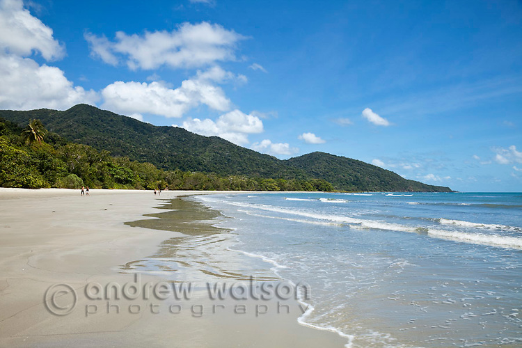 View along Cape Tribulation Beach.  Daintree National Park, Queensland, Australia