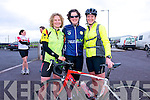 Carol Forbes and Orla Russell (Cork) with Claire Hickey (Rathmore) at the start of the Dingle Adventure Race on Saturday morning.