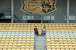 Dr Crokes supporters Brid O'Regan and Louise McCarthy  check out the Pairc ui Chaoimh seats which have been installed around the Dr Crokes field in Killarney.<br /> Picture by Don MacMonagle <br /> <br /> REF: COLM O'CONNOR ONLY