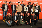 """Full cast and producers during the presentation of the film """"Ocho Apellidos Catalanes"""" in Madrid, November 17, 2015.<br /> (ALTERPHOTOS/BorjaB.Hojas)"""