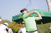 Filippo Bergamaschi (ITA) on the 10th tee during the second round of the Mutuactivos Open de Espana, Club de Campo Villa de Madrid, Madrid, Madrid, Spain. 04/10/2019.<br /> Picture Hugo Alcalde / Golffile.ie<br /> <br /> All photo usage must carry mandatory copyright credit (© Golffile | Hugo Alcalde)