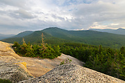 Cloudy skies from Middle Sugarloaf Mountain in Bethlehem, New Hampshire USA during the summer months.