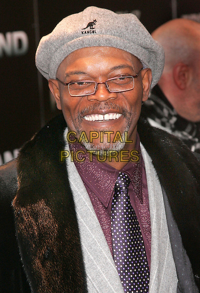 "SAMUEL L. JACKSON.NY Premiere of ""Freedomland"" at Lowes Lincoln Square Theatre, New York, NY, USA..February 13th, 2006.Photo: Jackson Lee/Admedia/Capital Pictures.Ref: JL/ADM.headshot portrai kangol hat goatee facial hair.www.capitalpictures.com.sales@capitalpictures.com.© Capital Pictures."