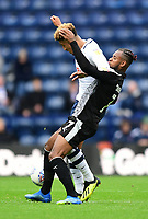 Preston North End's Callum Robinson vies for possession with Reading's Leandro Bacuna<br /> <br /> Photographer Chris Vaughan/CameraSport<br /> <br /> The EFL Sky Bet Championship - Preston North End v Reading - Saturday 15th September 2018 - Deepdale - Preston<br /> <br /> World Copyright &copy; 2018 CameraSport. All rights reserved. 43 Linden Ave. Countesthorpe. Leicester. England. LE8 5PG - Tel: +44 (0) 116 277 4147 - admin@camerasport.com - www.camerasport.com