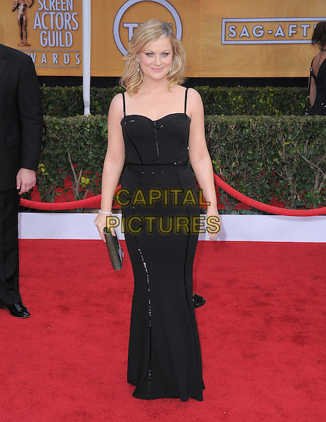 Amy Poehler.Arrivals at the 19th Annual Screen Actors Guild Awards at the Shrine Auditorium in Los Angeles, California, USA..27th January 2013.SAG SAGs full length black dress.CAP/DVS.©DVS/Capital Pictures.