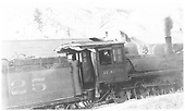 RGS 4-6-0 #25 switching in Durango.<br /> RGS  West Durango, CO  ca 1938
