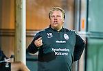 Solna 2015-08-31 Fotboll Damallsvenskan AIK - Eskilstuna United :  <br /> Eskilstunas tr&auml;nare Viktor Eriksson under matchen mellan AIK och Eskilstuna United <br /> (Foto: Kenta J&ouml;nsson) Nyckelord:  Damallsvenskan Allsvenskan Dam Damer Damfotboll Skytteholm Skytteholms IP AIK Gnaget Eskilstuna United portr&auml;tt portrait