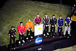 12 MAR 2011: The 125 lbs awards ceremony during the Division III Men's Wrestling Championship held at the La Crosse Center in La Crosse Wisconsin. Stephen Nowland/NCAA Photos