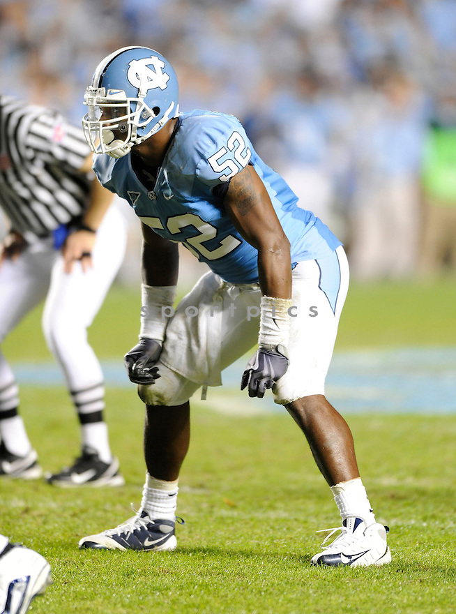 QUAN STURDIVANT, of the North Carolina Tarheels, in action during the Tarheels game against the Miami Hurricanes on November 14, 2009 in Chapel Hill, NC. North Carolina won 33-24.