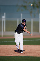 Zachary Williams (12) of College Station High School in College Station, Texas during the Baseball Factory All-America Pre-Season Tournament, powered by Under Armour, on January 13, 2018 at Sloan Park Complex in Mesa, Arizona.  (Mike Janes/Four Seam Images)