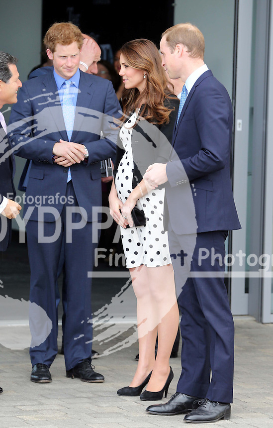 The Duke and Duchess of Cambridge and Prince Harry leaving the Warner Bros. Studios in Leavesden, Herts, Friday 26th April 2013 Photo by: Stephen Lock / i-Images