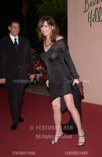 Feb 12, 2005; Beverly Hills, CA: Actress KIM DELANEY at record mogul Clive Davis' Annual pre-Grammy party at the Beverly Hills Hotel.