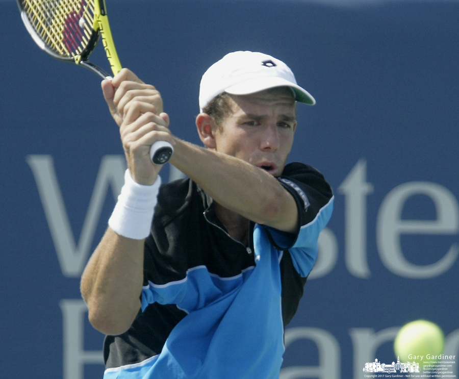 17 August 2006: Dominik Hrbaty, of Slovakia, plays during the during the ATP Cincinnati Masters tennis tournament in Mason, Ohio.<br />