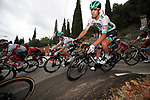 The peloton including Daniel Oss (ITA) Bora-Hansgrohe during Stage 1 of Tour de France 2020, running 156km from Nice Moyen Pays to Nice, France. 29th August 2020.<br /> Picture: Bora-Hansgrohe/BettiniPhoto | Cyclefile<br /> All photos usage must carry mandatory copyright credit (© Cyclefile | Bora-Hansgrohe/BettiniPhoto)