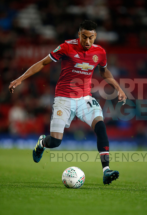 Jesse Lingard of Manchester United during the Carabao Cup Third Round match at the Old Trafford Stadium, Manchester. Picture date 20th September 2017. Picture credit should read: Simon Bellis/Sportimage