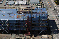 Aerial photograph of construction in Mission Bay San Francisco California