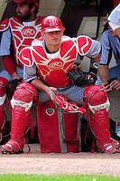 University of Hartford Hawks catcher Erik Ostberg (21) prior to a game versus the Boston College Eagles at Pellagrini Diamond at Shea Field on May 9, 2015 in Chestnut Hill, Massachusetts.  (Ken Babbitt/Four Seam Images)