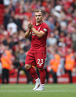 Liverpool's Xherdan Shaqiri<br /> <br /> Photographer Rob Newell/CameraSport<br /> <br /> The Premier League - Liverpool v West Ham United - Sunday August 12th 2018 - Anfield - Liverpool<br /> <br /> World Copyright &copy; 2018 CameraSport. All rights reserved. 43 Linden Ave. Countesthorpe. Leicester. England. LE8 5PG - Tel: +44 (0) 116 277 4147 - admin@camerasport.com - www.camerasport.com