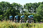 Astana Pro Team in action during Stage 3 of the 2018 Tour de France a Team Time Trial running 35.5km from Cholet to Cholet (35,5km, France. 9th July 2018. <br /> Picture: ASO/Alex Broadway | Cyclefile<br /> All photos usage must carry mandatory copyright credit (&copy; Cyclefile | ASO/Alex Broadway)