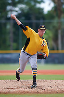 Pittsburgh Pirates Trey Supak (56) during an instructional league intrasquad black and gold game on September 18, 2015 at Pirate City in Bradenton, Florida.  (Mike Janes/Four Seam Images)