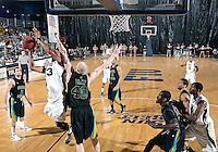 Florida International University guard-forward Dominique Ferguson (3)plays against Coastal Carolina University.  FIU won the game 64-62 on November 26, 2011 at Miami, Florida. .
