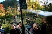 "KOSOVO. Strpce. 03/11/2000..Serbs celebrate their ""Day of the Dead"" in the Serb enclave of Strpce..©Andrew Testa"