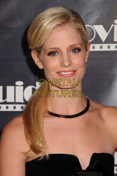 STEFANIE BUTLER.17th Annual Movieguide Faith and Values Awards Gala at the Beverly Hilton Hotel, Beverly Hills, California, USA..February 11th, 2009.headshot portrait necklace black strapless.CAP/ADM/BP.©Byron Purvis/AdMedia/Capital Pictures.
