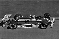 HAMPTON, GA - MAY 1: Mario Andretti drives his Wildcat VIIIB/Cosworth during the 1982 Stroh's 200 on May 1, 1982, at the Atlanta Motor Speedway near Hampton, Georgia.