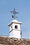 Latin America, Guatemala, Antigua, Cross on Chimney of Colonial House