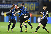 Radja Nainggolan of Internazionale celebrates with team mates after scoring goal of 1-0 <br /> Milano 27-04-2019 Stadio Giuseppe Meazza <br /> Football Serie A 2018/2019 FC Internazionale - Juventus FC <br /> photo Image Sport / Insidefoto