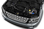 Car Stock 2016 Land Rover Discovery HSE 5 Door Suv Engine  high angle detail view