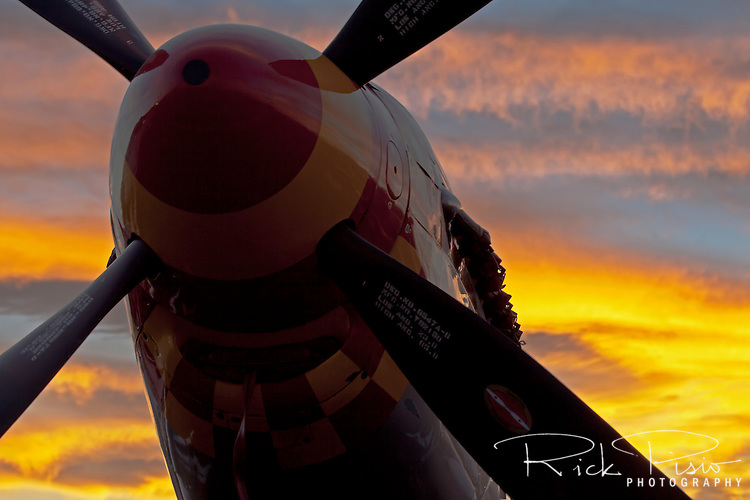 The Reno sky lights up at the end of another race day at the Reno Air Races