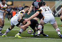 William Barthau in action for London during the Kingstone Press Championship game between London Broncos and Bradford Bulls at Ealing Trailfinders, Ealing, on Sun March 5, 2017