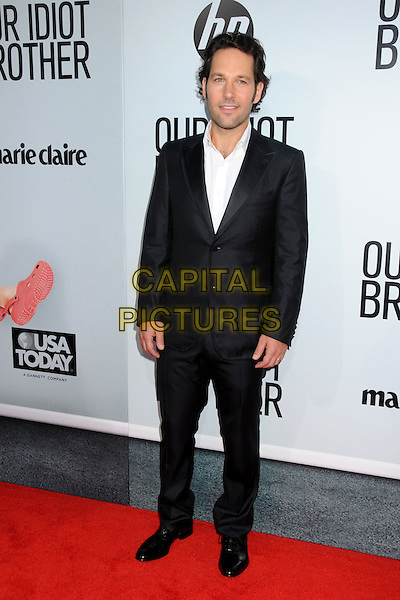 """Paul Rudd .""""Our Idiot Brother"""" Los Angeles Premiere held at Arclight Cinemas, Hollywood, California, USA..August 16th, 2011.full length suit black white shirt.CAP/ADM/BP.©Byron Purvis/AdMedia/Capital Pictures."""