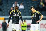 ***BETALBILD***  <br /> Solna 2015-05-10 Fotboll Allsvenskan AIK - IFK Norrk&ouml;ping :  <br /> AIK:s Henok Goitom och Fredrik Brustad deppar under matchen mellan AIK och IFK Norrk&ouml;ping <br /> (Foto: Kenta J&ouml;nsson) Nyckelord:  AIK Gnaget Friends Arena Allsvenskan IFK Norrk&ouml;ping depp besviken besvikelse sorg ledsen deppig nedst&auml;md uppgiven sad disappointment disappointed dejected