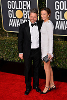 LOS ANGELES, CA. January 06, 2019: Hugh Grant & Anna Elisabet Eberstein at the 2019 Golden Globe Awards at the Beverly Hilton Hotel.<br /> Picture: Paul Smith/Featureflash