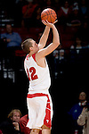 MADISON, WI - NOVEMBER 8: Guard Jason Bohannon #12 of the Wisconsin Badgers shoots the ball against the Carroll College Pioneers at the Kohl Center on November 8, 2006 in Madison, Wisconsin. The Badgers beat the Pioneers 81-61. (Photo by David Stluka)