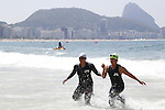 Atsuko Yamada &amp; Yu Nishiyama (JPN),<br /> SEPTEMBER 11, 2016 - Triathlon : <br /> Women's Individual Paratriathlon PT5<br /> at Fort Copacabana<br /> during the Rio 2016 Paralympic Games in Rio de Janeiro, Brazil.<br /> (Photo by Shingo Ito/AFLO)