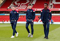 Bolton Wanderers' Joe Pritchard , Jack Earing and Shakeel Jones-Griffiths pictured before the match <br /> <br /> Photographer Andrew Kearns/CameraSport<br /> <br /> The EFL Sky Bet Championship - Nottingham Forest v Bolton Wanderers - Sunday 5th May 2019 - The City Ground - Nottingham<br /> <br /> World Copyright © 2019 CameraSport. All rights reserved. 43 Linden Ave. Countesthorpe. Leicester. England. LE8 5PG - Tel: +44 (0) 116 277 4147 - admin@camerasport.com - www.camerasport.com