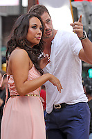 "Cheryl Burke and William Levy from ""Dancing With the Stars"" Season 14 outside ABC's ""Good Morning America"" Times Square studio in New York, 23.05.2012..Credit: Rolf Mueller/face to face / Mediapunchinc"
